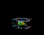 Macro High speed Bio Luminescent milk droplet 12