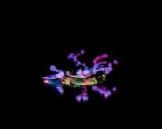 Macro High speed Bio Luminescent milk droplet 13