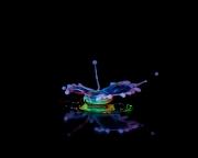 Macro High speed Bio Luminescent milk droplet 14