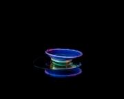 Macro High speed Bio Luminescent milk droplet 2