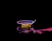 Macro High speed Bio Luminescent milk droplet 3
