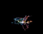 Macro High speed Bio Luminescent milk droplet 9