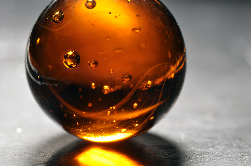 macro amber marble