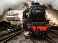 Steam Train at bury station uk