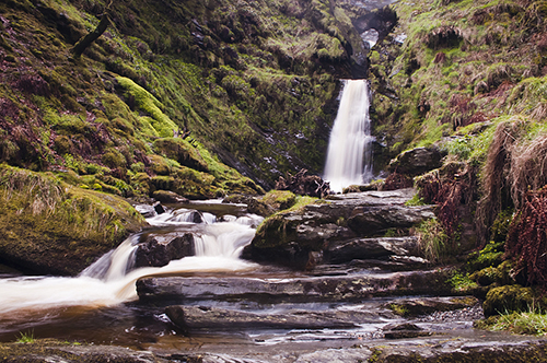 pistyll rhaeadr wales, tallest waterfall wales, welsh wonder, long exposure, water photography, nd filter photography, landscape long exposure